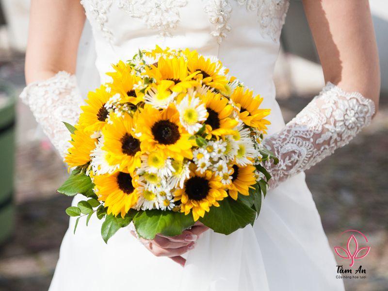 Ý nghĩa sâu sắc hoa cưới hướng dương không phải ai cũng biết