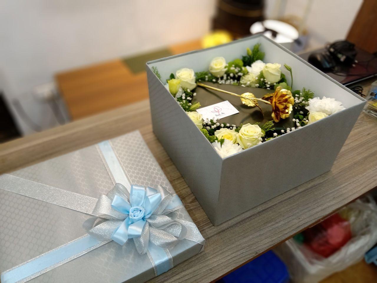 Hộp hoa hồng làm từ hoa tươi tặng sinh nhật   flowers box   Tâm An Hoa