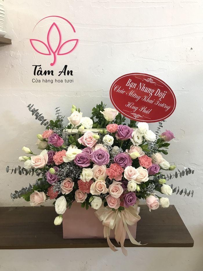 Những mẫu giỏ hoa mới nhất hiện nay tại Tâm An Flowers