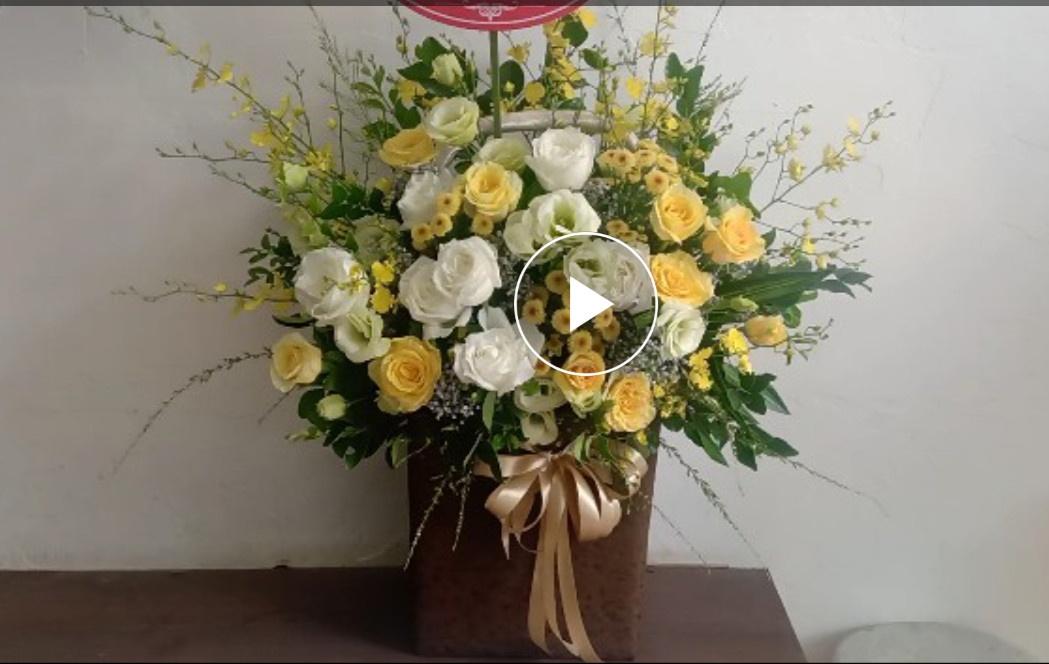 Điện hoa hà nội, lẵng hoa chúc mừng đẹp.